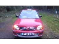Nissan Micra 1.0 Automatic Metallic Red Only 33000 miles Very good condition