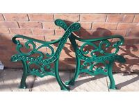 Bench ends... cast iron.. high quality.... immaculate