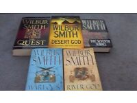 Wilbur Smith Paperback and Hardback books