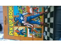 marvel pin up book