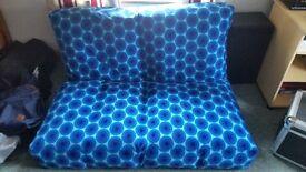 IKEA 2 SEATER BLUE SOFA