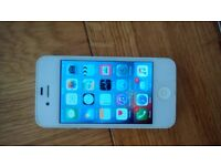 I phone 4s unlocked white excellent condition