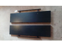 2x IKEA LACK - Wall shelf, black - 110x26 cm