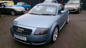 2003 (53) AUDI TT 1.8 QUATTRO 180 COUPE MET BLUE AUG 2017 MOT ONLY 88K F/S/HISTORY HEATED LEATHER +