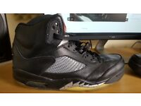 Nike Air Jordan 5 Retro Black Mens Rare Used UK 11