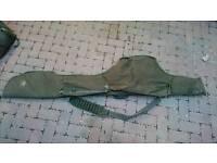 Carp fishing rod holder and large bag
