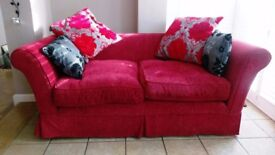 2 Seater Red Multiyork Sofa, hardly used