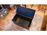 Vintage Industrial Steel Trunk