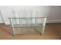 Clear Toughened Glass TV Stand