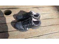 Black Nike Boys Golf Shoes, UK Size 2.5