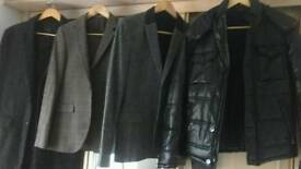 Gents medium sized tweed jackets and coat