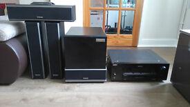 VERY RARE TECHNICS TOP END SOUND SB -W500 , SB-LV500, SB-C500 + SONY AMPLIFIER
