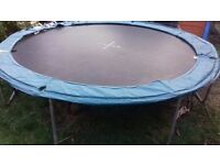 10ft trampoline, no enclosure. Bit of wear on padding but still bounces fine .