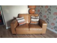 DFS Tan Leather 3 SestercChaise and 2 Seater £200 each