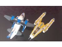 Lego City 7723 Police Pontoon Plane and LEGO Anakins Y-wing starfighter