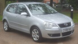 VW POLO 1.4 MATCH 58PLATE 2008 2P/LADY OWNER 98000 FULL SERVICE HISTORY AIRCON ALLOYS 5DOOR MANUAL