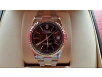 New Swiss Rolex Date Just Silver for sale! £35! £50 boxed!
