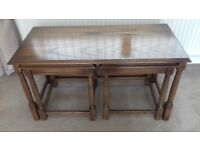 Solid Medium Oak Nest of Tables