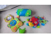 Car seat mirror and baby toys