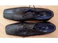 PSL black leather shoes Size 10