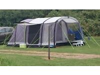 Kampa Hayling 4 AIR inflatable tube 4 berth tent with footprint, carpets and hook-up cable