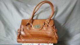 Ladies Brown Tan Handbag