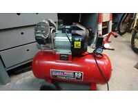 Air Compressor Sealey 50ltr V-Twin Direct Drive 3hp