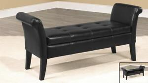 Black Storage Bench - IF-668B in Toronto Furniture Sale (BD-1473)