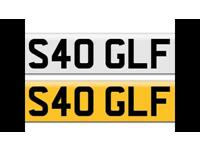 Personalized Private Number Plate S40 GLF for VW Golf Clubsport 40 or similar