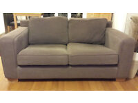 Brown 3 Seater, 2 Seater Sofas and Footstool