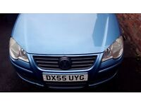** 2005 VOLKSWAGEN POLO SE 1.4 AUTO SKY BLUE **mint condition Facelift model not dsg automatic jazz
