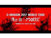 G-dragon ticket on Sunday, 24th of Sep, SSE Wembley