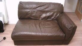 Brown Leather (or Vinyl) Sofa