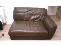 Brown Leather (or Vinyl) Sofa