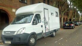 Iveco Daily 35s12 MWB Walkthrough luton-motor caravan conversion