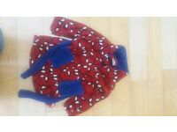 Spiderman dressing gown age 3