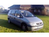 Vauxhall zafira 1.8 petrol 2003 7 Seater LONG MOT