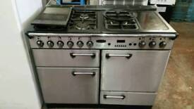 Rangemaster professional cooker silver black