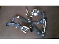 Honda Jazz Mk2 2002-2008 complete seat belts - o/side driver side+r/side passenger side