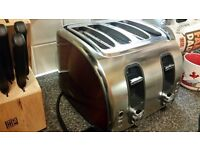 Toaster Red/ Aluminum 4 slice AEG
