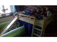 Mid sleeper kids slide bed
