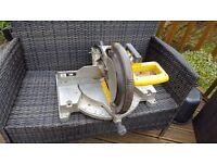 Dewalt dw705 compoud mitre saw