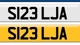 Cheap bargain S123 LJA private cherished personal personalised registration plate number Cheap