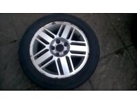 16'' FORD ALLOY WHEELS 205/55 R16 108/5 PCD FOCUS MONDEO TRANSIT 1 TYRE GOOD 3 TYRES CLOSE TO LEGAL