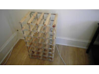 wine rack 28 holes - metal and wood - professional use