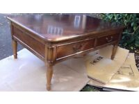 A Lovely Laura Ashley Cherry Wood Coffee Table / Display Table
