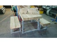 Heavy duty bench & table set