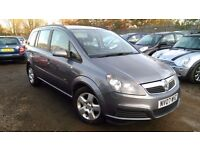 Vauxhall Zafira 1.6 i 16v Club 5dr, HPI CLEAR, LONG MOT, GOOD CONDITION, IDEAL FOR FAMILIES