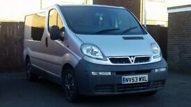 Vauxhall vivaro 1.9 cdti 6 speed silver excellent van very clean