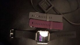 Great condition Fitbit Blaze with extra straps and charger